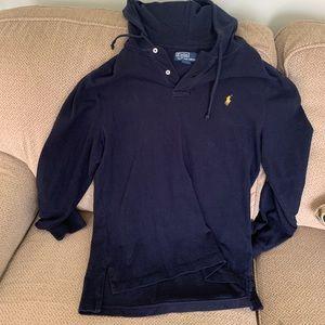 Navy Ralph Lauren pull over hoodie